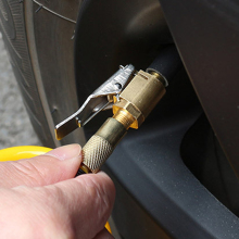 Автомобильный воздушный насос с зажимом для шин, колеса, воздушный компрессор, автомобильный насос для шин, воздушный патрон для насоса, адаптер для автомобильного насоса, зажим для клапана