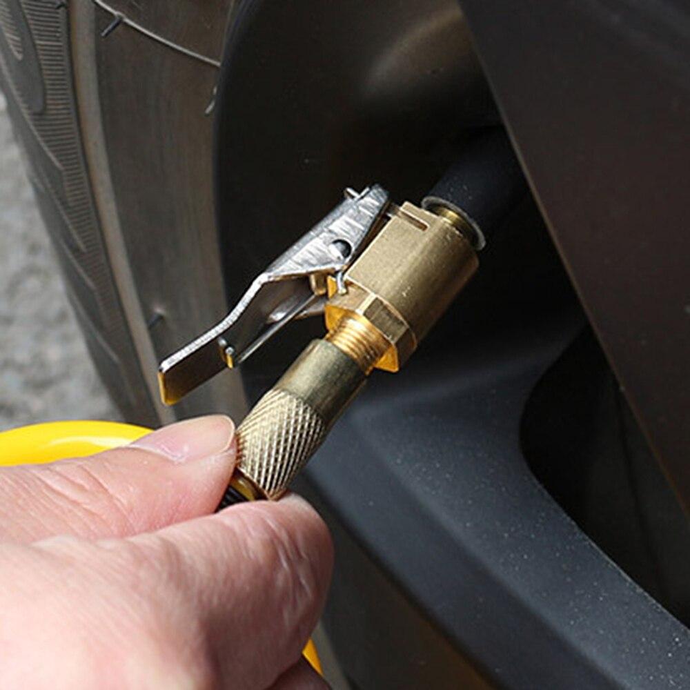 Auto Air Pump Chuck Clip Tyre Wheel Air Compressor Car Pump Tire Air Chuck Pump Adapter For Car Inflator Pump Valve Clip Clamp