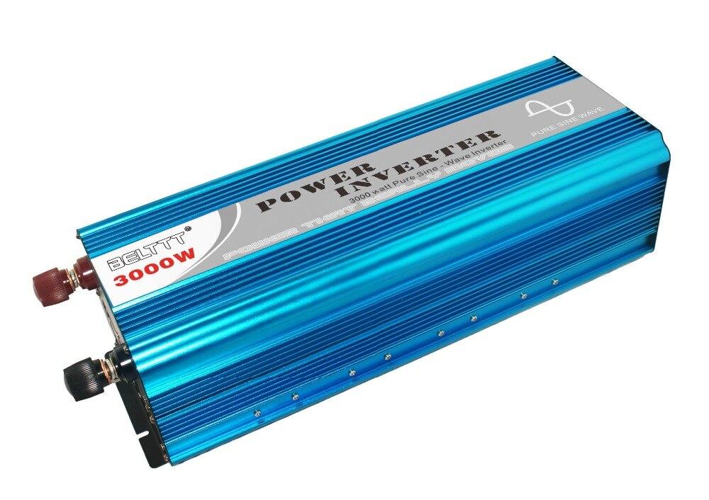Universal 12V 24V Convertidor inversor de energ/ía solar para autom/óvil 6000W Convertidor 12V a 220V Single Ac con cargador de autom/óvil USB 3.1A Inversor convertidor de energ/ía solar para autom/óvil