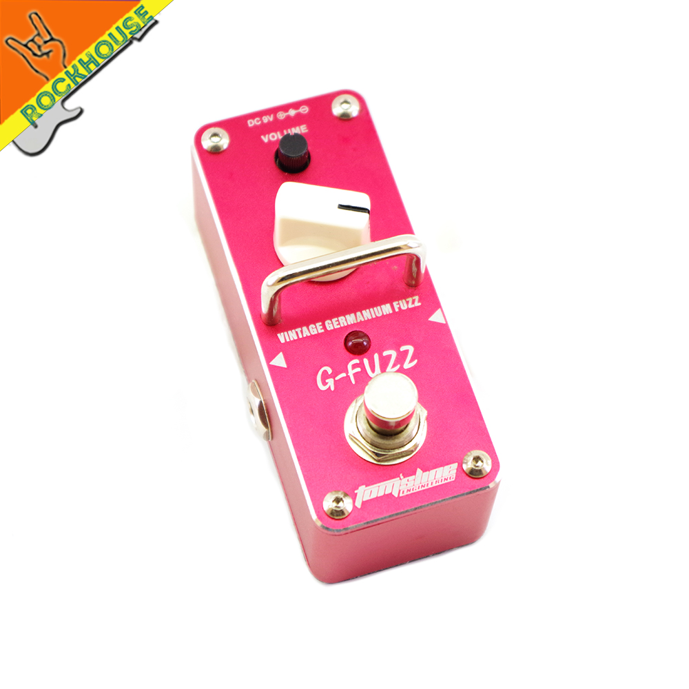 AROMA AGF-3 Guitar Fuzz Guitar Effects Pedal Germanium Fuzz Distortion Effect Pedal Powerful Dynamic Output True Bypass aroma tom sline amd 3 metal distortion mini guitar effect pedal analogue effect true bypass