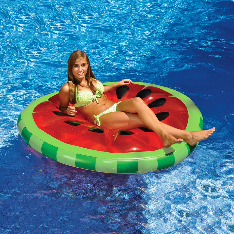 160CM Red Inflatable Watermelon Float Pool Toy Water Sports Inflatable Floating Raft float Leisure Floating Bed PVC Fast shiping