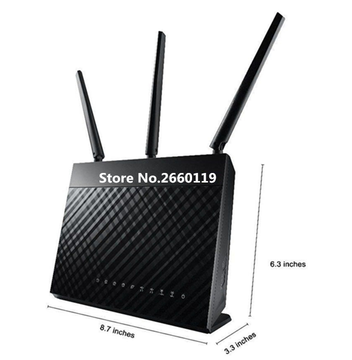 High quality For RT-AC68U TM-AC1900 Dual-band Gigabit wireless WIFI router working well цена и фото