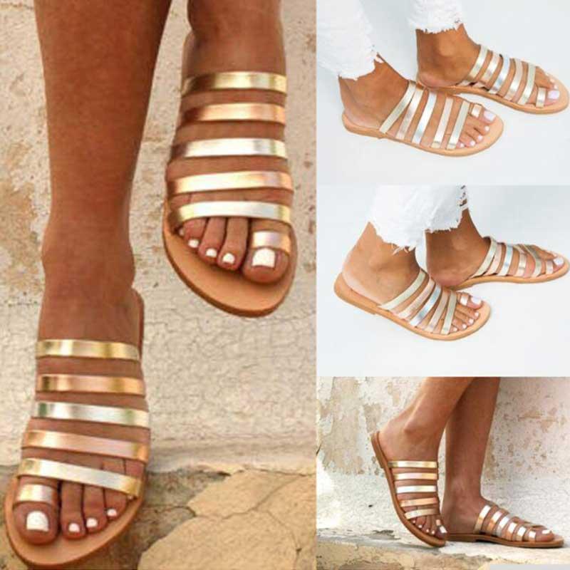 Women Flat Sandals Summer 2019 Gladiator Sandals Ladies Strap Slippers Roman Female Flip Flops Outdoor Casual Innrech Market.com