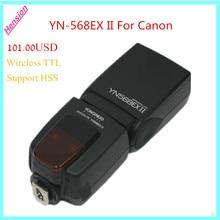 Yongnuo YN-568EX II Speedlite YN568EX II Wireless TTL HSS Para canon 6d 60d 550d 650d 5d mark iii 1200d 100d dslr cámaras
