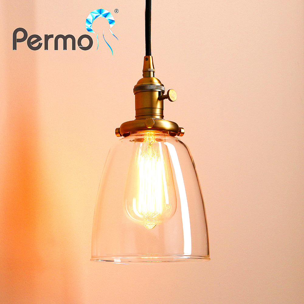 Permo Vintage Hanglamp Glass Pendant Lights Retro Pendant Ceiling Lamps Modern Lamp Luminaire Dining Lighting Fixture For Home