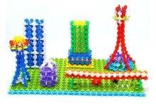 Free Shipping 200pcs Snow Snowflake Building Blocks Toy Bricks DIY Assembling Classic Toys Kids Early Educational