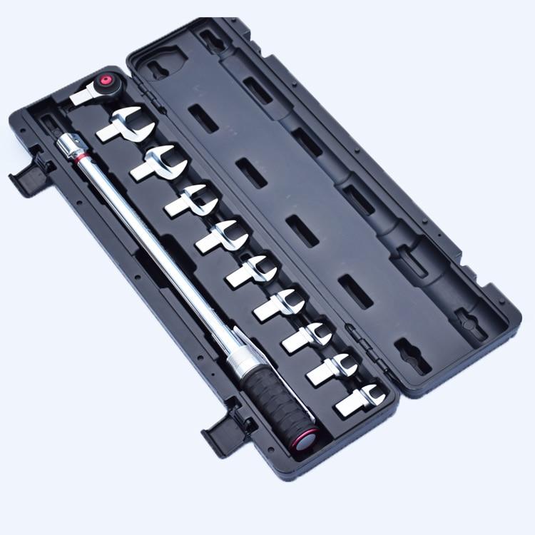 Preset 60-340NM Torque Wrench Set 1/2 Ratchet End -open Insert Heads Torque Spanner Set Tools