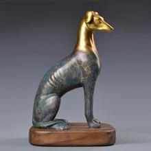 Twelve Chinese Zodiac dog Home Furnishing copper ornaments jewelry ornaments Wonfu Wangcai crafts greyhound dog