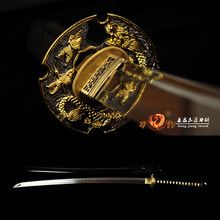 Handmade Japanese Samurai Sword Folded Steel Blade Full Tang Sharp Katana sword цена