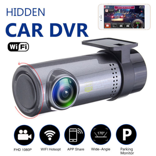 цена на HD 1080p Hidden Car WiFi DVR Vehicle Camera Video Recorder Dash Cam Night Vision