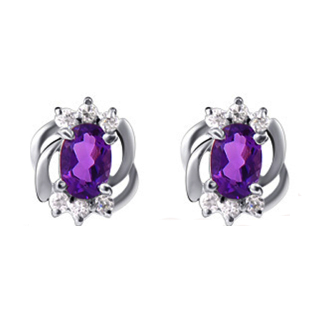 2017 New Arrive earring stud in 925 silver, from the biggest sapphire mine in China,birthday gift,anniversary gift