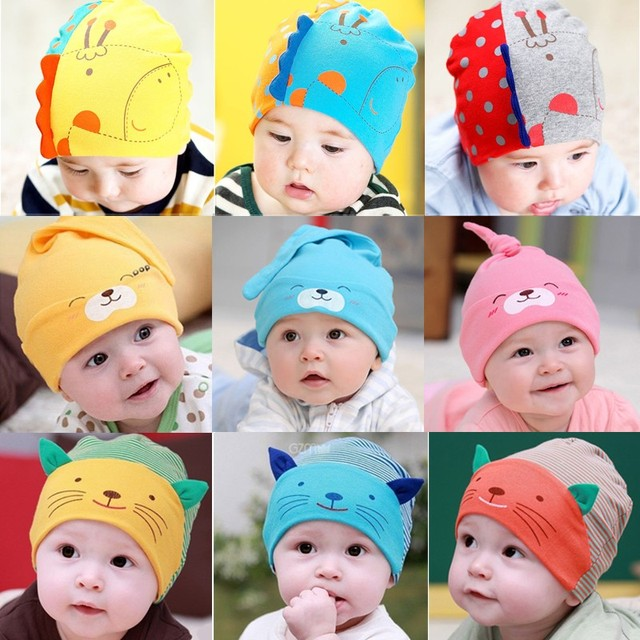 Newborn baby in autumn and winter hats for children boys and girls 0-3-6-12 months  old caps 807914af208