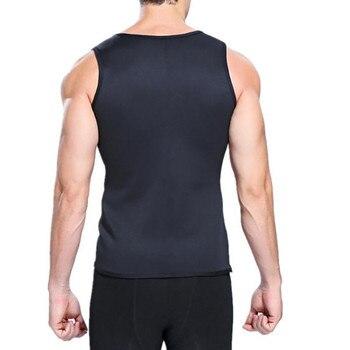 Musculación estado físico para hombre 3XL, camisetas sin mangas de neopreno ultradelgado, chaleco adelgazante, corsé, camiseta muscular