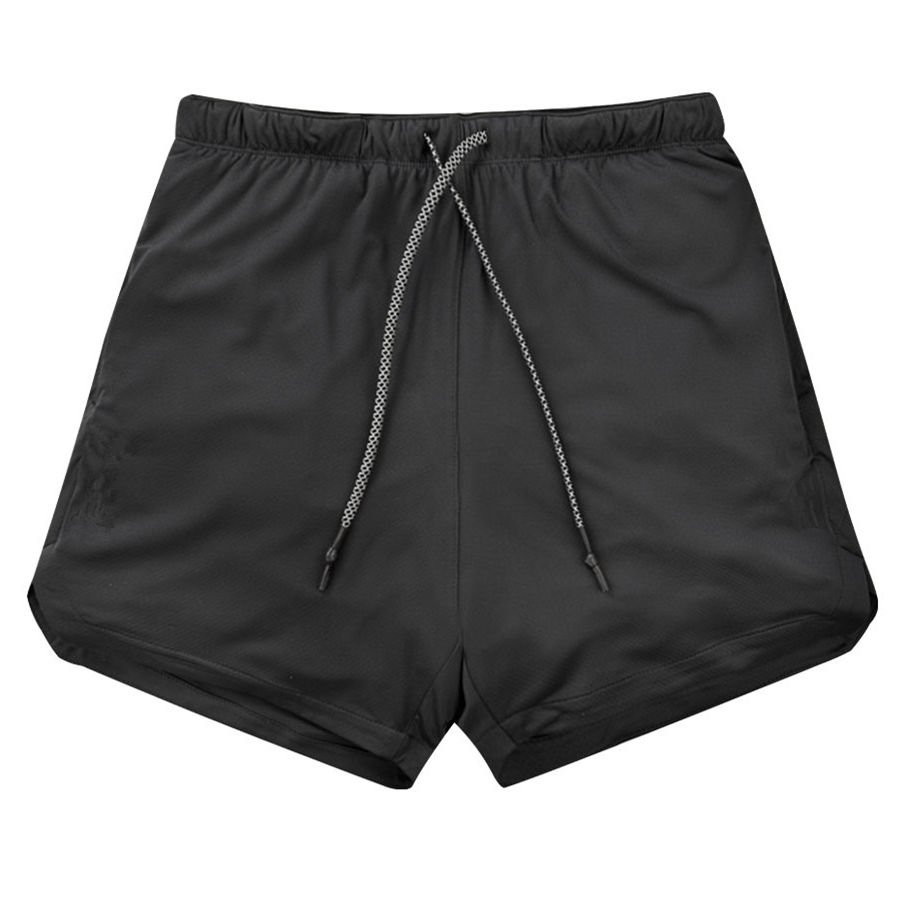 Image 3 - New Men 2 in 1 Running Shorts Gym Fitness Bodybuilding Training Quick Dry Beach Short Pants Male Summer Workout Crossfit BottomsRunning Shorts   -