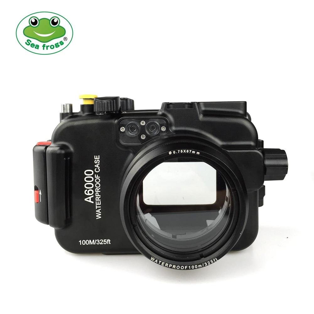 Boîtier de caméra en alliage d'aluminium gens de mer pour Sony A6000 étanche IPx 8 boîtier de plongée profondeur 100m toutes les fonctions Support étui de prise de vue