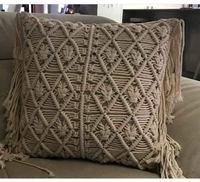 Macrame Pillow Cover Boho Cushion Cover 100% Cotton Wedding Pillow Cover Boho Home Decor, Custom Size and Color