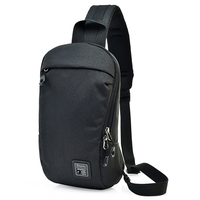 0df93c46d606 New Arrival Men Sling Bag Messenger Crossbody Chest Pack Women Shoulder  Bags Anti Theft Polyester Small Fanny Chest Bags Black