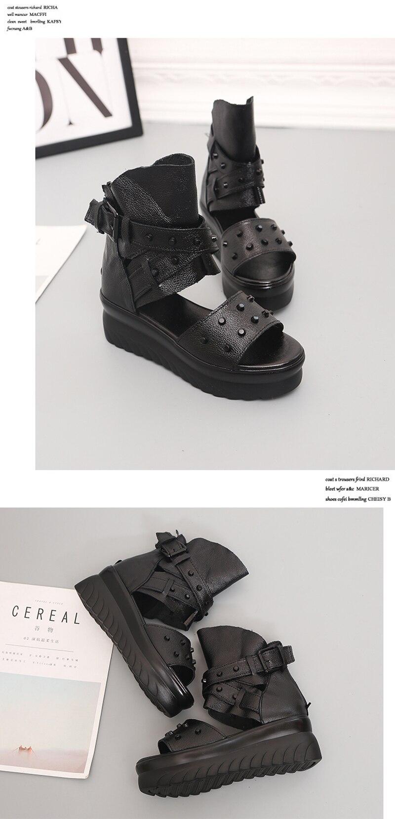 HTB1E1rZelKw3KVjSZFOq6yrDVXai ADBOOV Genuine Leather Platform Sandals Women Summer Wedges Shoes For Women Sandalias De Verano Para Mujer Size 35-43