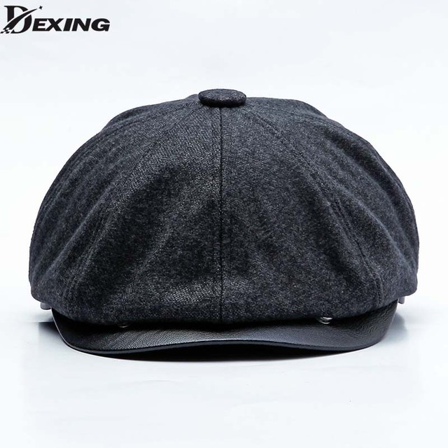 Tweed Gatsby Newsboy Cap Men Autumn winter Thick velvet Hat Golf Driving  Flat Cabbie Flat Unisex c231dc4c4c45