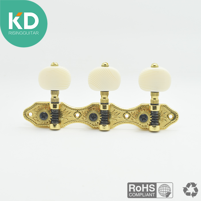2 PC po setu High Class Klasična Guitar Tuning Pegs Machine Glave zlatne boje 1:18 omjer