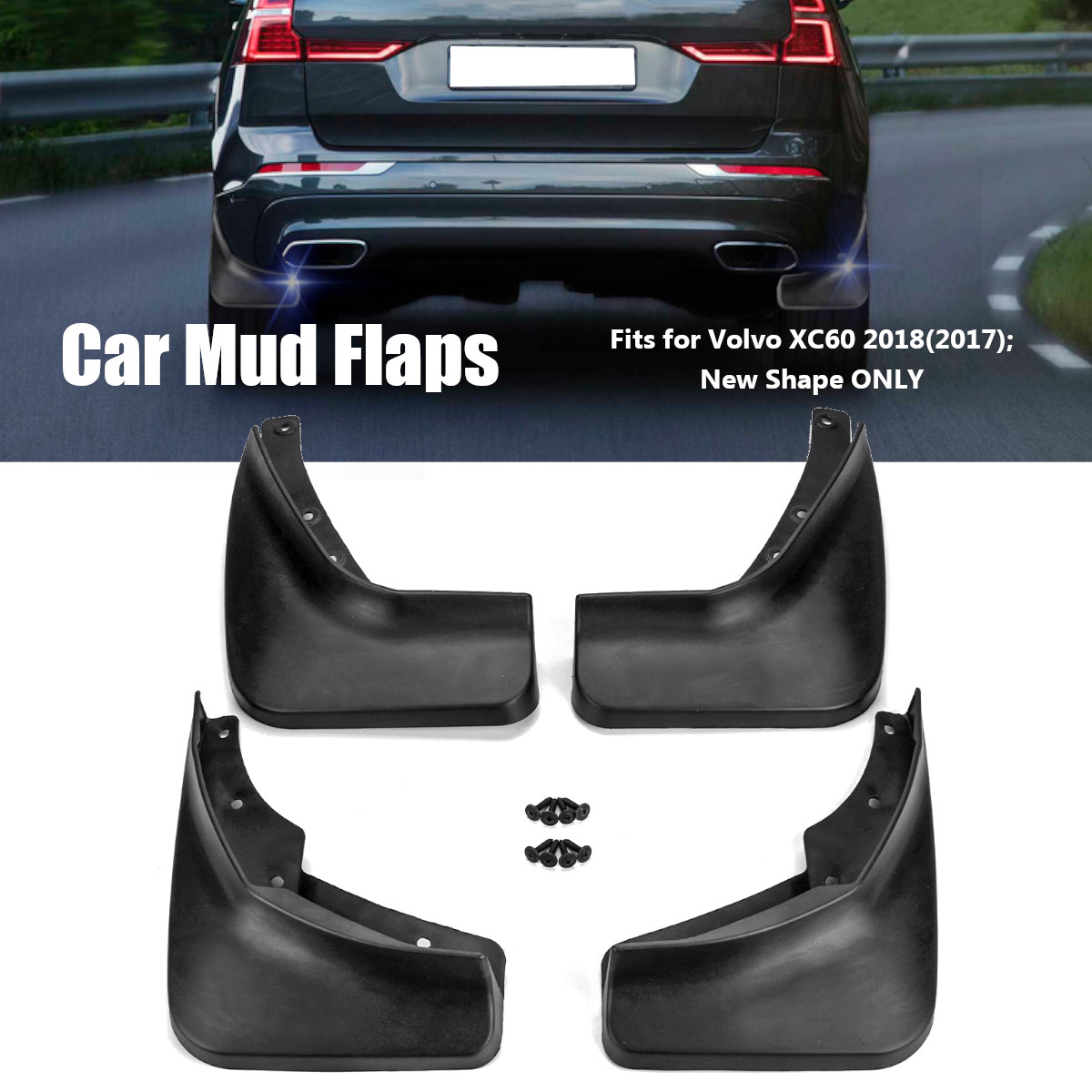4pcs car mud flaps for volvo xc60 2018 front rear fender flares splash guards mudguards mudflaps