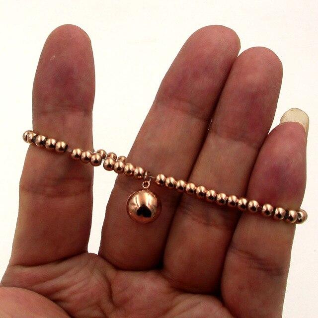 Популярные украшения эластичный браслет с бусинами из розового