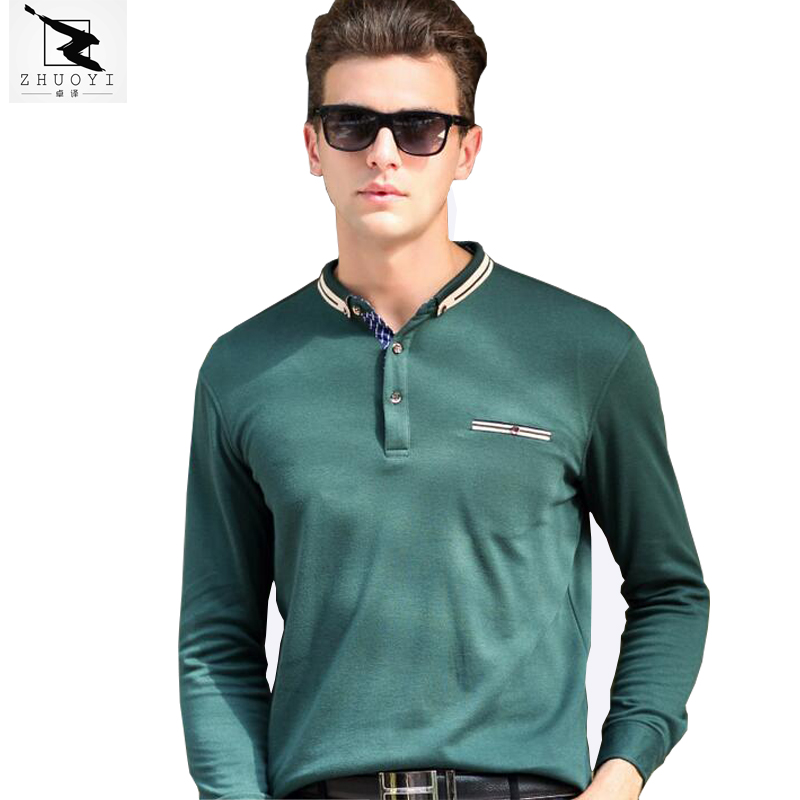 2016 spring autumnhigh quality men 39 s polo shirt business for Business casual polo shirt
