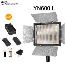 YONGNUO YN600L YN600 لوحة الفيديو الضوئي LED مع درجة حرارة اللون قابل للتعديل 3200 K 5500 K استوديو التصوير الفوتوغرافي الإضاءة + البطارية