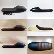 Изменение Общего Мотоцикл Подушки Кафе-Рейсер Ретро сиденья 6 цвета