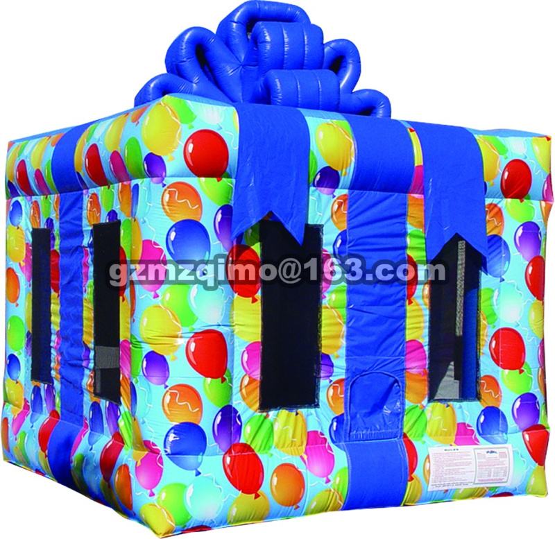 free shipping Gift box inflatable bounce house inflatable jumping bounce house,inflatable bouncy castle,inflatable bouncer giant super dual slide combo bounce house bouncy castle nylon inflatable castle jumper bouncer for home used