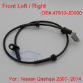 Front Left and Right ABS Wheel Speed Sensor for Nissan Qashqai 2007- 2014 47910-JD000 Free Shipping