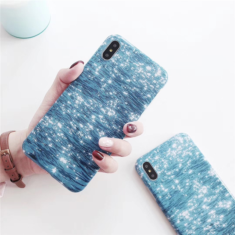 Soft TPU Phone Case Cover For iPhone XS Max XR 8 Plus Blue Water Ripple Phone Case For iphone 8 7 6 6s plus X XR XS Max Fundas in Fitted Cases from Cellphones Telecommunications