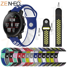 Smart Accessories for Samsung S3 Strap 22mm Band for Xiaomi Huami Watch 1 2 Amazfit Stratos 2/2S Replacement Strap Double Color 22mm silicone sport watch band for samsung gear s3 smart watch strap for xiaomi huami amazfit stratos 2 2s replacement watchband