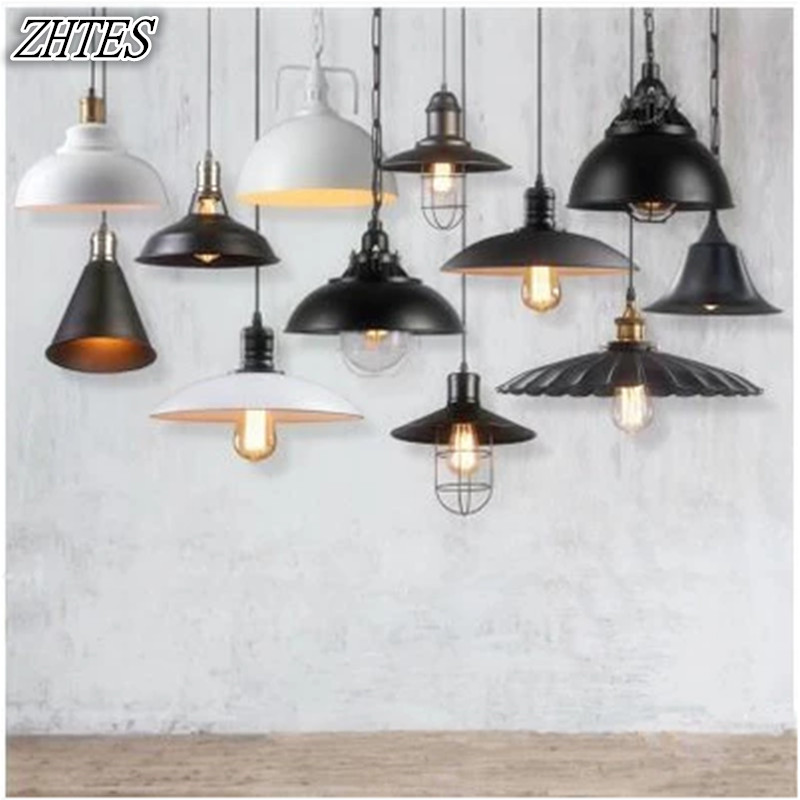Loft Retro Industrial Restaurant Cafe Lights American Creative Personality Single Head Iron Pot Pendant Light цена и фото