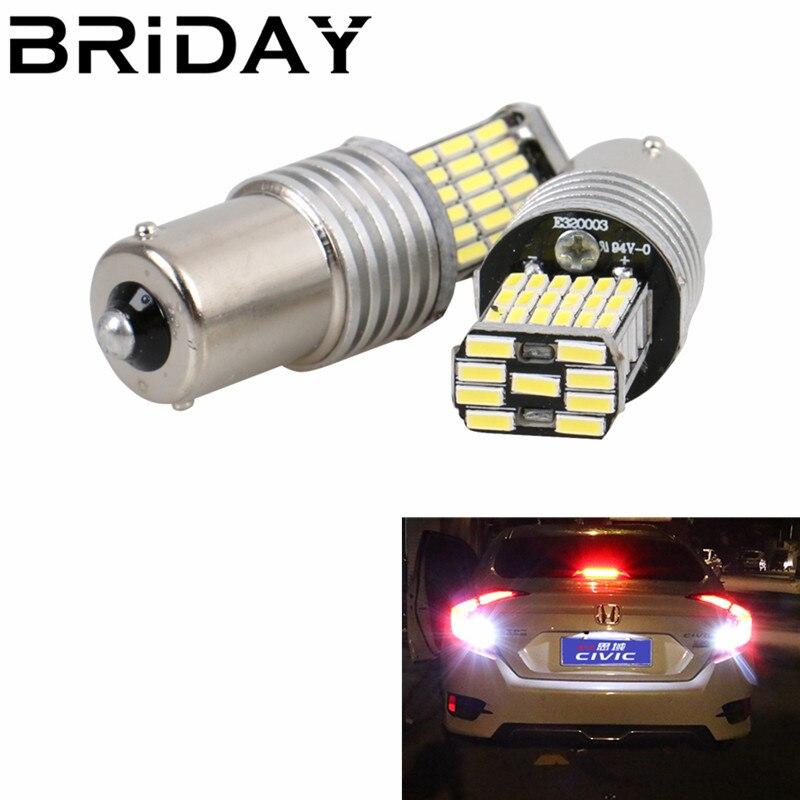 1PC 1156 BA15S P21W 45 SMD LED Light Backup Turn Signal Light Reserve lights Daytime running car styling White DC12V