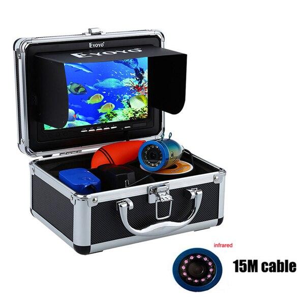 """Eyoyo 30м 1000TVL камера рыбоискатель подводная рыбалка видеокамера """" монитор солнцезащитный козырек инфракрасный светодиод - Цвет: 15M Infrared LED"""