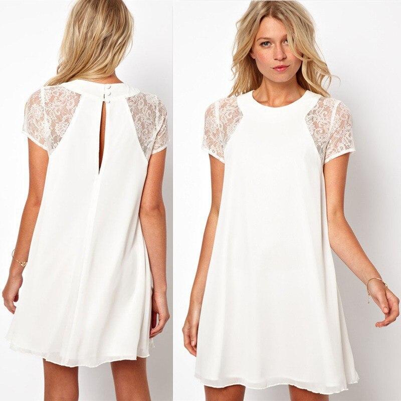 3 Colors Sexy Bohemian 2016 Women Summer Dress Lace Short Sleeve