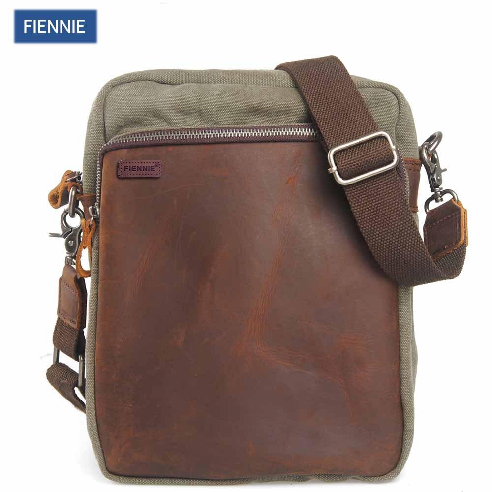 FIENNI Men Fashion Bag Vintage Canvas Shoulder Crossbody Bag High Quality Male Causal Messanger Men's Travel Bags casual canvas satchel men sling bag