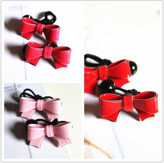 New Arrival styling tools Cute Bow elastic hair bands hairpin headwear hair accessories for women girl children make you fashion