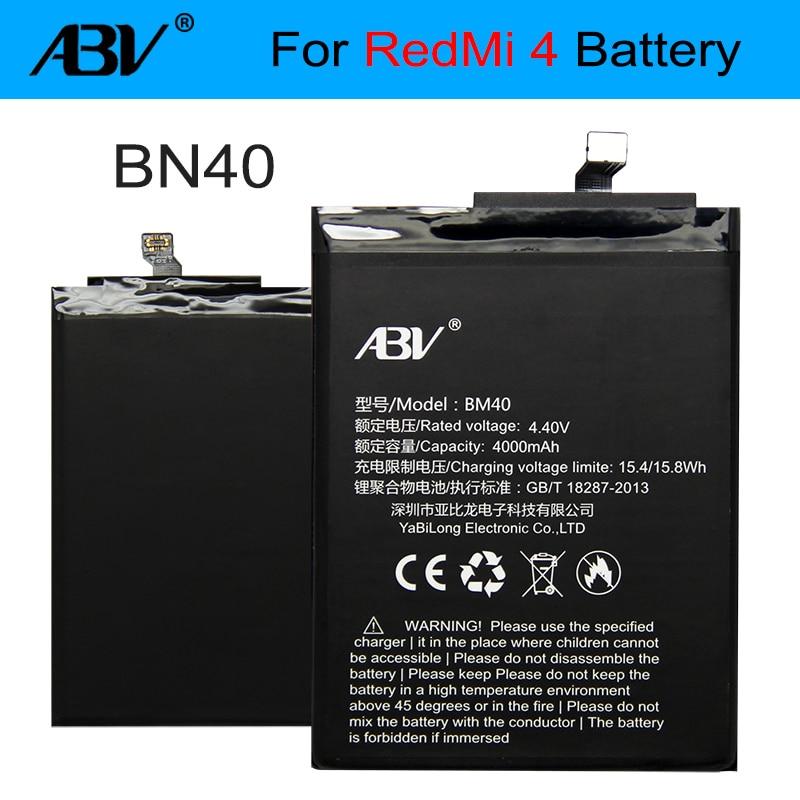 100% Original ABV BN40 Battery For Xiaomi Redmi 4 Pro Prime 3G RAM 32G ROM Edition Redrice 4 Hongmi 4 Battery