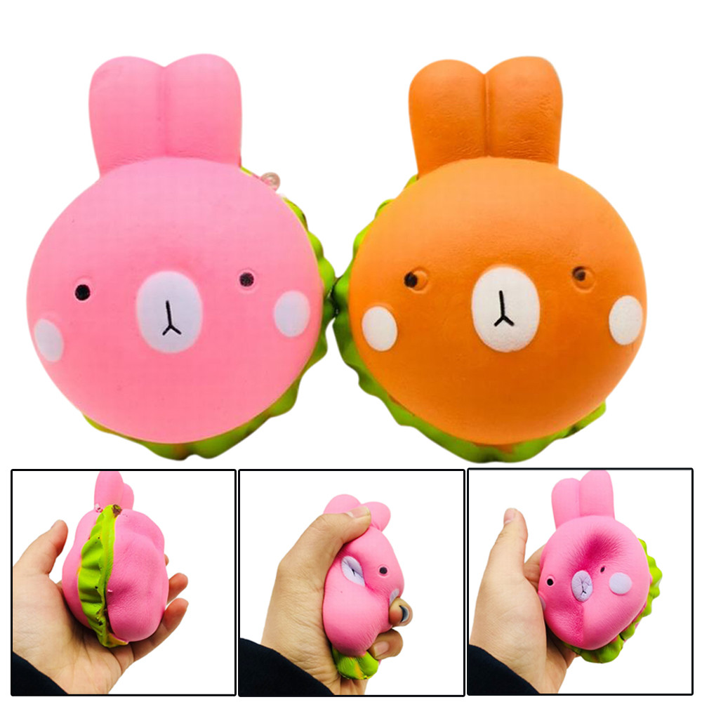 Squishy Kawaii Jumbo Slow Rising Squeeze Rabbit Toy Slow Rising Antistress Hot Air Ballo ...