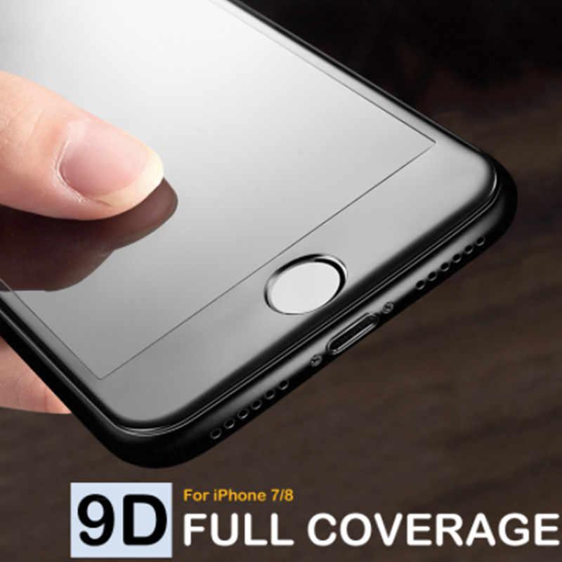 9D Gekrümmten Rand Gehärtetem Glas Auf Die Für iPhone 7 8 Plus X XS Voll Display-schutzfolie Glas Für iPhone 7 8 6 6S Plus Film
