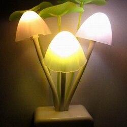 Z20-luz nocturna de hongo seta con Sensor de luz y enchufe la UE y Estados Unidos, 85V-260V, 3 Led, lámpara de setas de colores, luces Led nocturnas, novedad