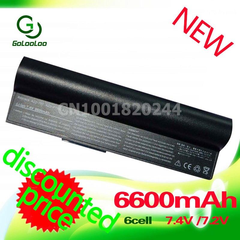 Golooloo 6600 mAh nero Batteria del computer portatile per Asus Eee PC 2G 4G 8G 900 700 701-OA001B1000 A23-P701-P701 P22-900 A22-700 A22-P701