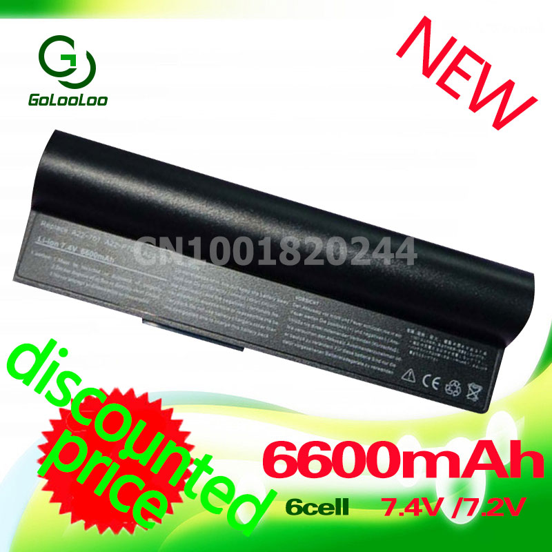 Golooloo 6600mAh black laptop Battery for Asus Eee PC 2G 4G 8G 900 700 701 90-OA001B1000 A22-700 A22-P701 A23-P701 P22-900