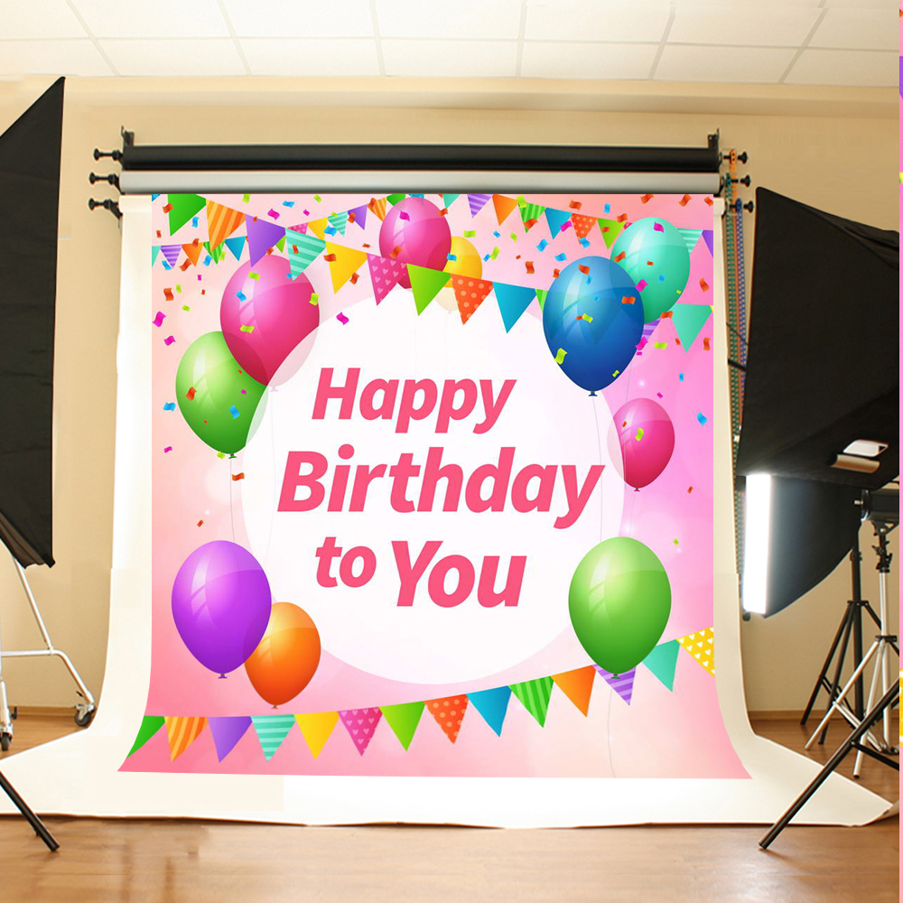 Color booth online - Newborn Photography Background Party Balloon Photo Booth Backdrops Hanging Colored Flag Background For Photographic Studio