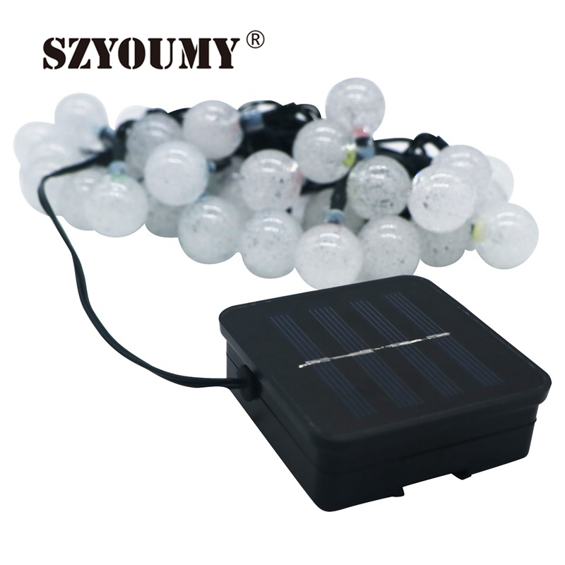 Szyoumy 6m 30leds Crystal Ball Waterproof Colorful Fairy