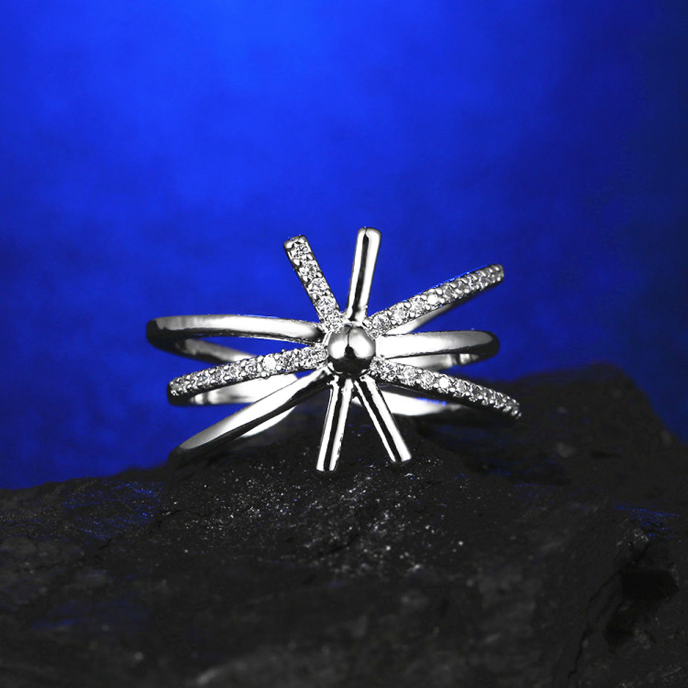 4PCS sets new star fresh flowers adjustable size women engagement ring Earrings Necklace Bracelets for girl gift Q00229 in Jewelry Sets from Jewelry Accessories