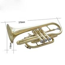 Окрашенный Золотой медный поршень Расширенный короткий латунный инструмент