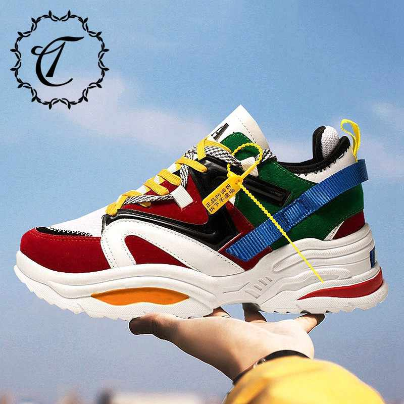 a0ceb65d2 CatriCa Designer Hot Sale Shoes Men Male High Quality Tennis Fashion Luxury  2019 Trainers Chunky Sneakers Red Black White SH-109